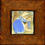 peter rabbit and mother framed